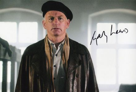 Gary Lewis, Scottish actor, signed 12x8 inch photo.
